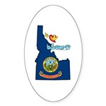 ILY Idaho Sticker (Oval 50 pk)