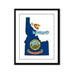 ILY Idaho Framed Panel Print