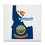 ILY Idaho Tile Coaster