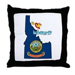 ILY Idaho Throw Pillow