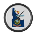 ILY Idaho Large Wall Clock