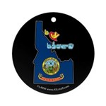 ILY Idaho Ornament (Round)