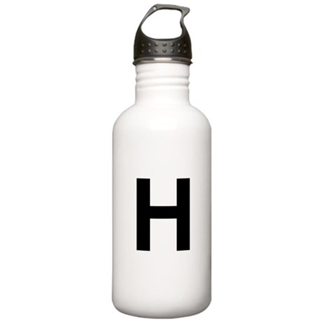 H Helvetica Alphabet Stainless Water Bottle 1.0L