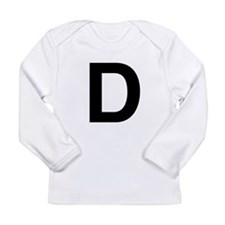 D Helvetica Alphabet Long Sleeve Infant T-Shirt