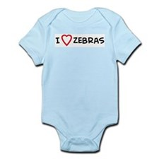 I Love Zebras Infant Creeper