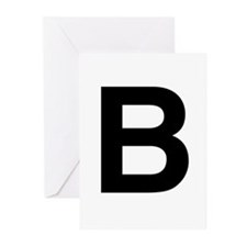 B Helvetica Alphabet Greeting Cards (Pk of 20)