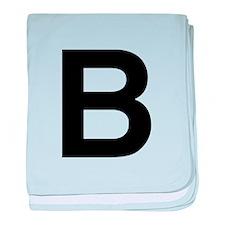 B Helvetica Alphabet baby blanket