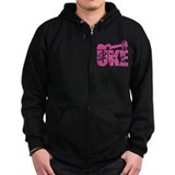 The Uke Pink Zipped Hoodie