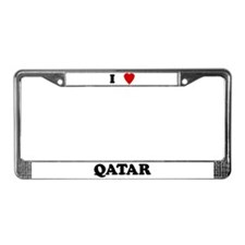 I Love Qatar License Plate Frame