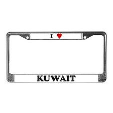 I Love Kuwait License Plate Frame