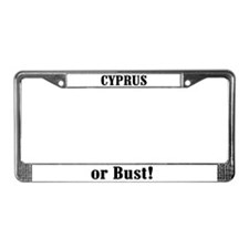 Cyprus or Bust! License Plate Frame