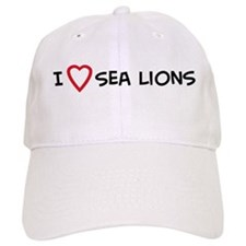 I Love Sea Lions Baseball Cap