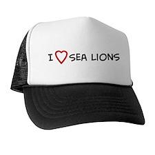 I Love Sea Lions Trucker Hat