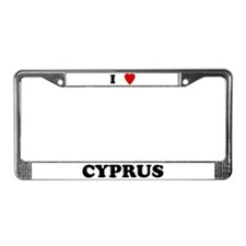 I Love Cyprus License Plate Frame