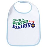 Proud to be Irish and Filipino Bib