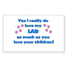 Love My Lab Decal