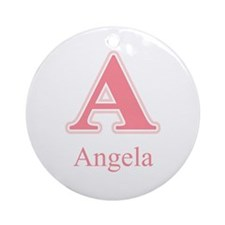 Angela Ornament (Round)