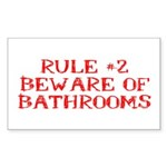 Rule #2 Sticker (Rectangle 10 pk)