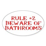 Rule #2 Sticker (Oval 10 pk)
