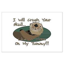 Otter Skull Crush Large Poster
