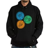 Color Rock Paper Scissors Hoodie