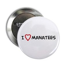 I Love Manatees Button