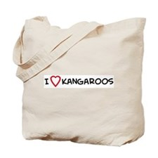 I Love Kangaroos Tote Bag