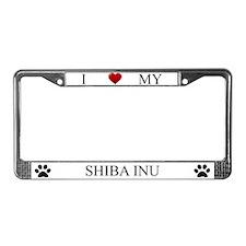 White I Love My Shiba Inu Frame