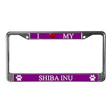 Purple I Love My Shiba Inu Frame