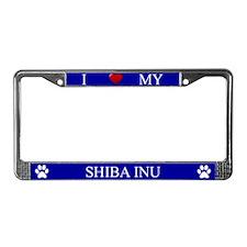 Blue I Love My Shiba Inu Frame
