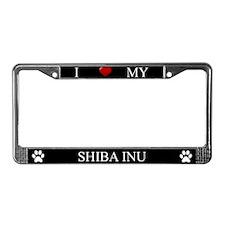Black I Love My Shiba Inu Frame