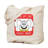1987 Year of The Rabbit 1987 Tote Bag