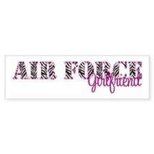 Air Force Zebra Girlfriend Bumper Sticker