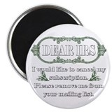 "Dear IRS 2.25"" Magnet (100 pack)"