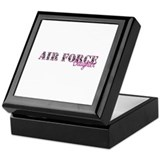 Air Force Zebra Daughter Keepsake Box