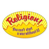 Religion-You Can't Start A War-Sticker (50-pack)