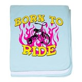 Born to Ride baby blanket