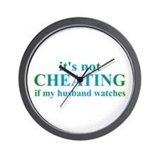 Husband Watches... Wall Clock