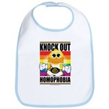 Knock out Homophobia Bib