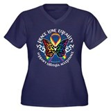 LGBT Peace Love Equality Women's Plus Size V-Neck
