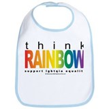 LGBTQIA Think Rainbow Bib