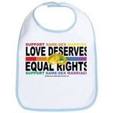 LGBTQIA Love Deserves Equal R Bib