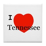 I Love Tennessee Tile Coaster