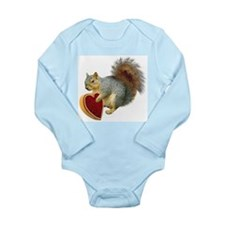 Squirrel Valentine Long Sleeve Infant Bodysuit