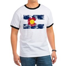 Distressed Colorado Flag T
