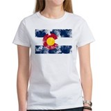 Distressed Colorado Flag Tee