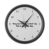 Workday Humor Large Wall Clock
