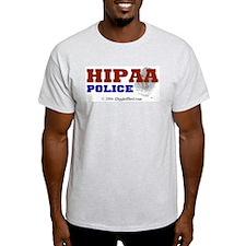 HIPAA Police Ash Grey T-Shirt