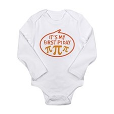 Baby's First Pi Day Long Sleeve Infant Bodysuit