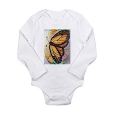 Butterfly, Colorful, Long Sleeve Infant Bodysuit